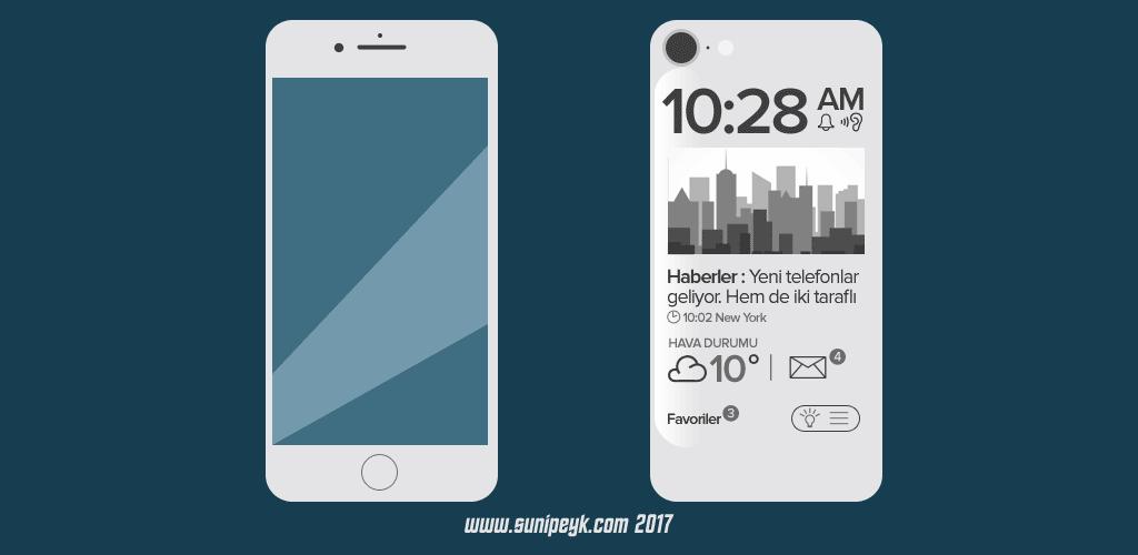 Çift ekranlı telefon