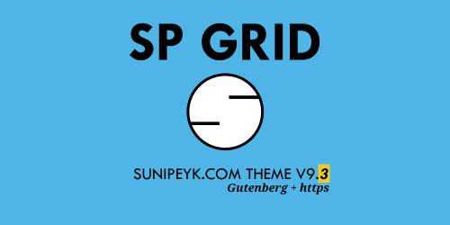 SP Grid 9.3 sürümü tema
