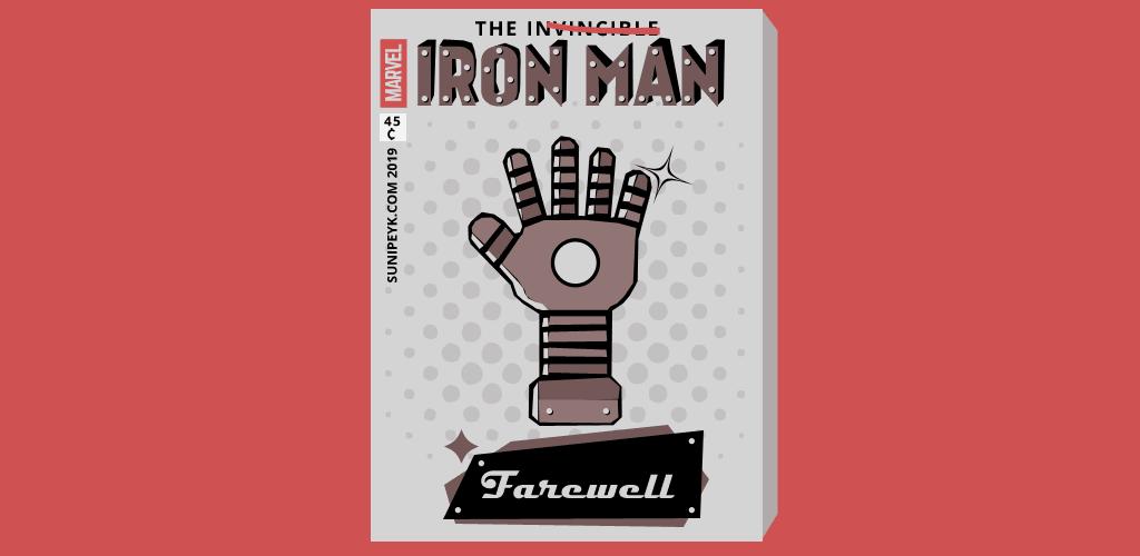 demir adam eli ile Iron Man dergi kapağı