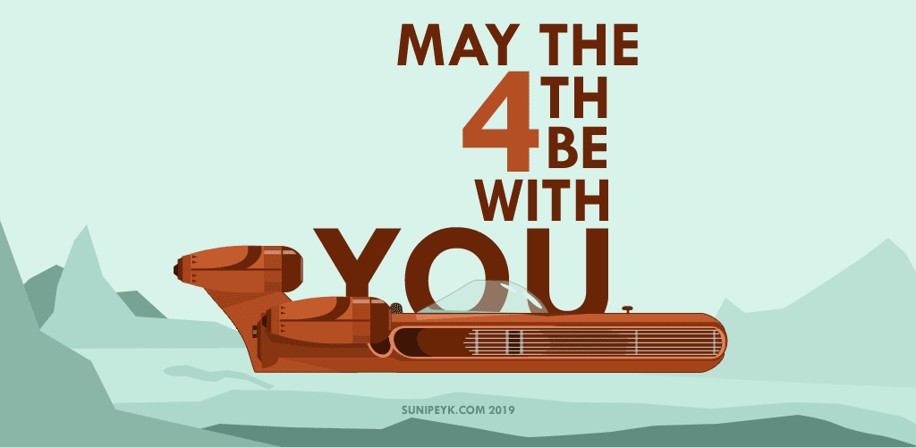 may the 4th be with you poster with landspeeder