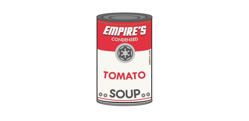 İmparatorluk domates çorbası konserve kutusu