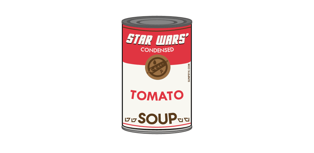 star warshol soup can