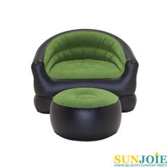 Inflatable Camping Chair Swing Nook Pvc Flocked With Free Footstool