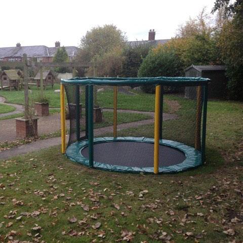 playground trampoline sunken trampoline in ground trampoline