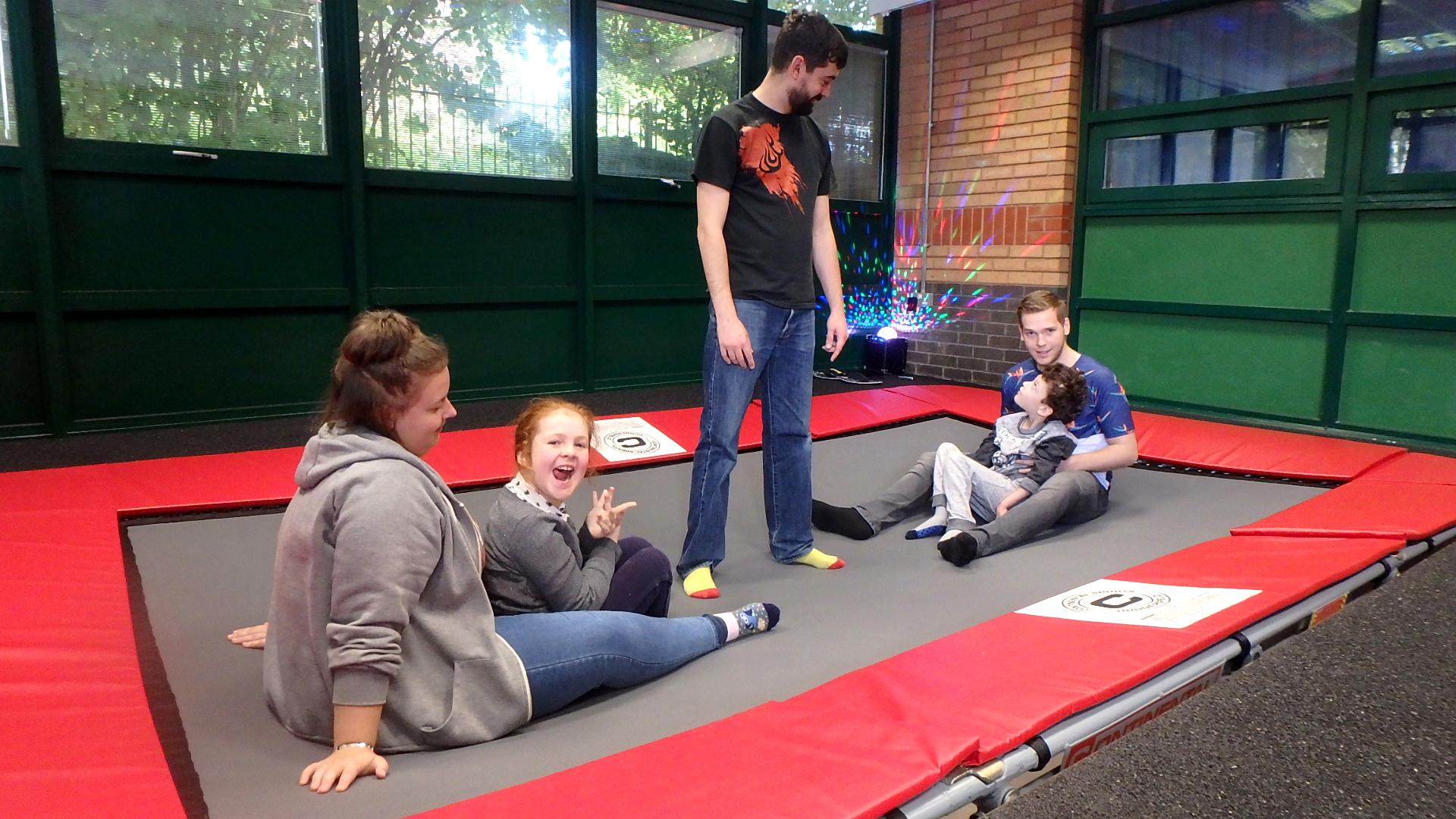Sunken trampoline rebound therapy rebound room