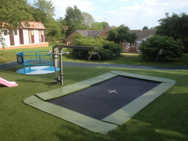 Rebound Therapy Sunken Trampoline Dolphin hoist in ground trampoline