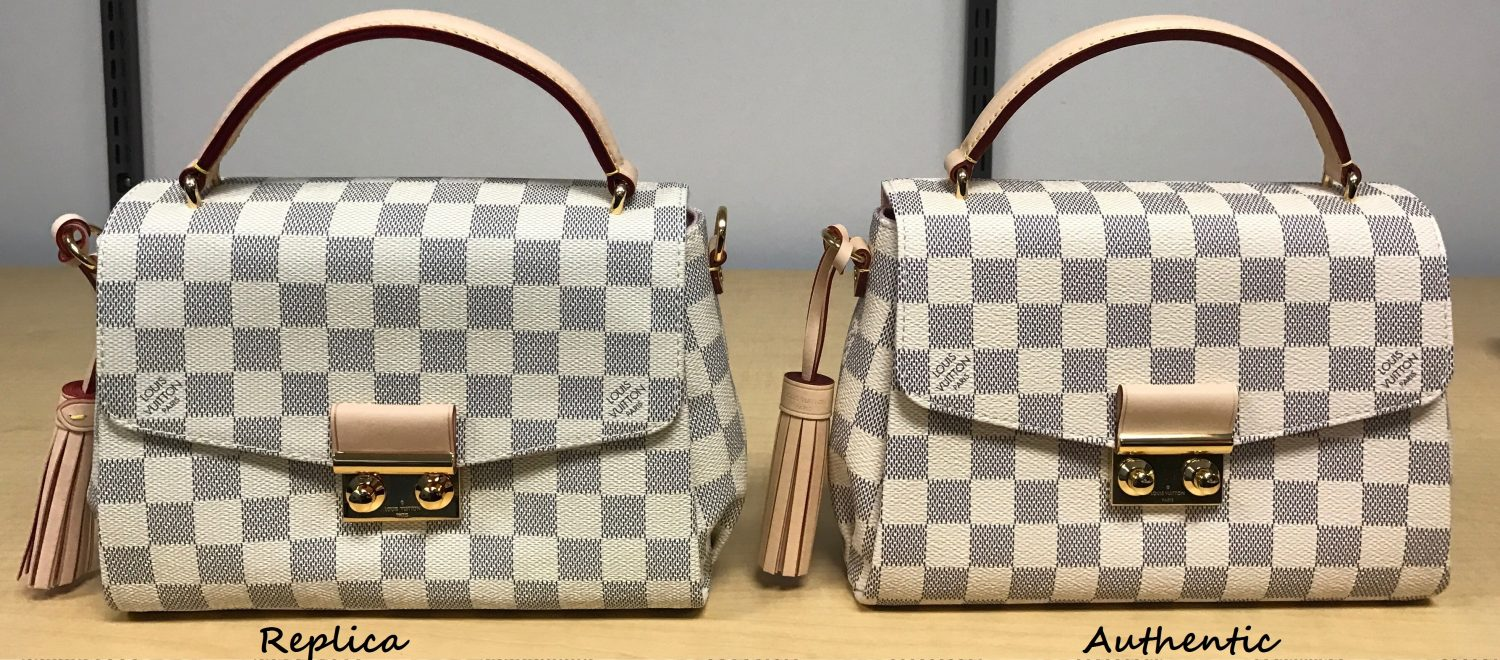 How To Spot A Fake Louis Vuitton Croisette Bag A Detailed Review Side By Side Comparison Sun Kissed Violet