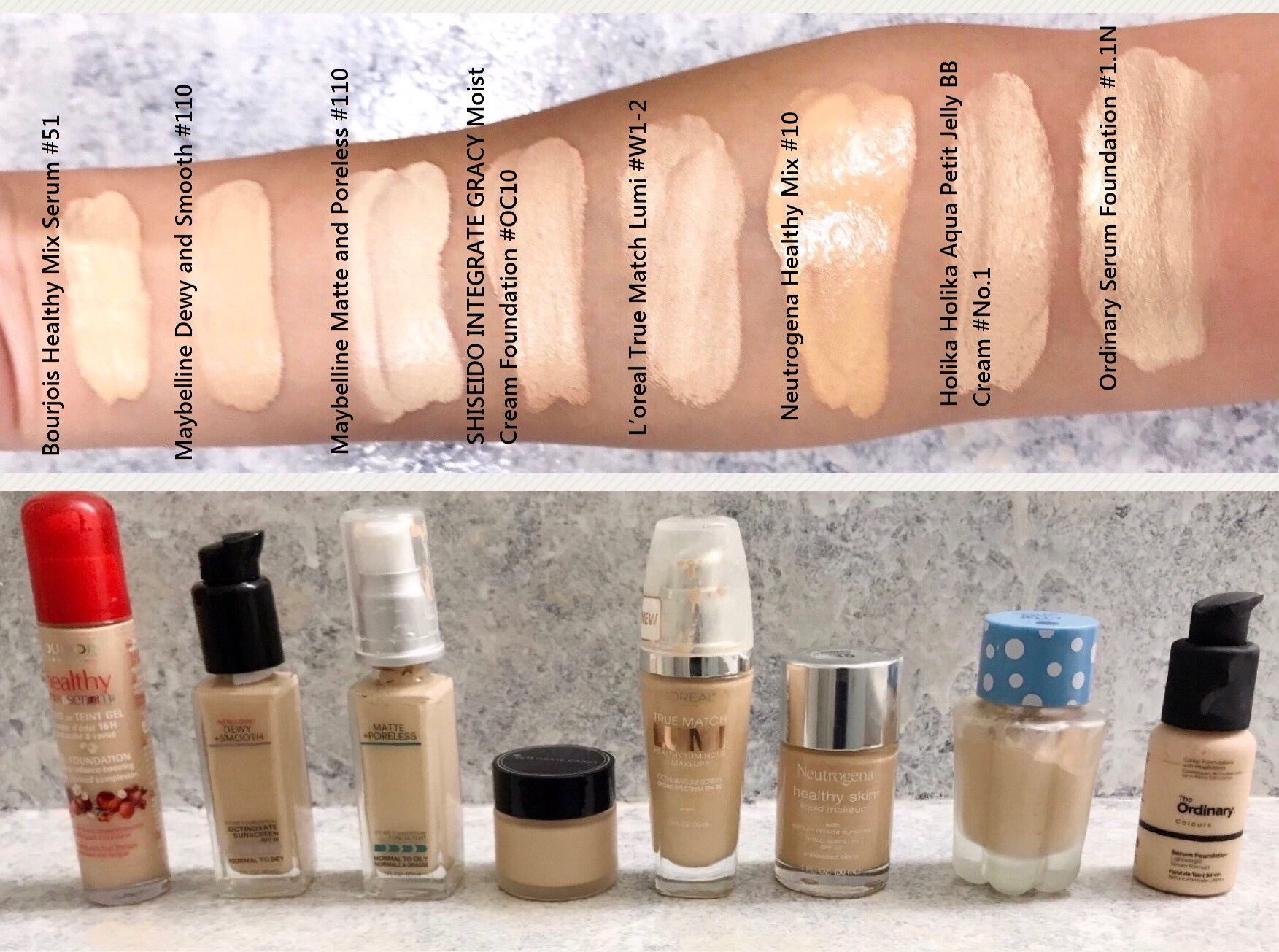 Pale Foundation Mega Swatch Review And Comparison Light To Medium Maybelline Super Bb Cushion Sand Beige Coverage Drugstore Part 1