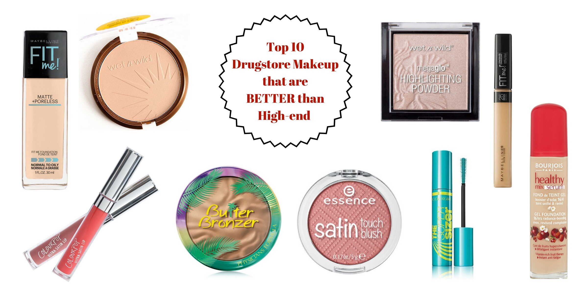 TOP 10 DRUGSTORE MAKEUP PRODUCTS THAT ARE BETTER THAN HIGH-END | Swatch + Review