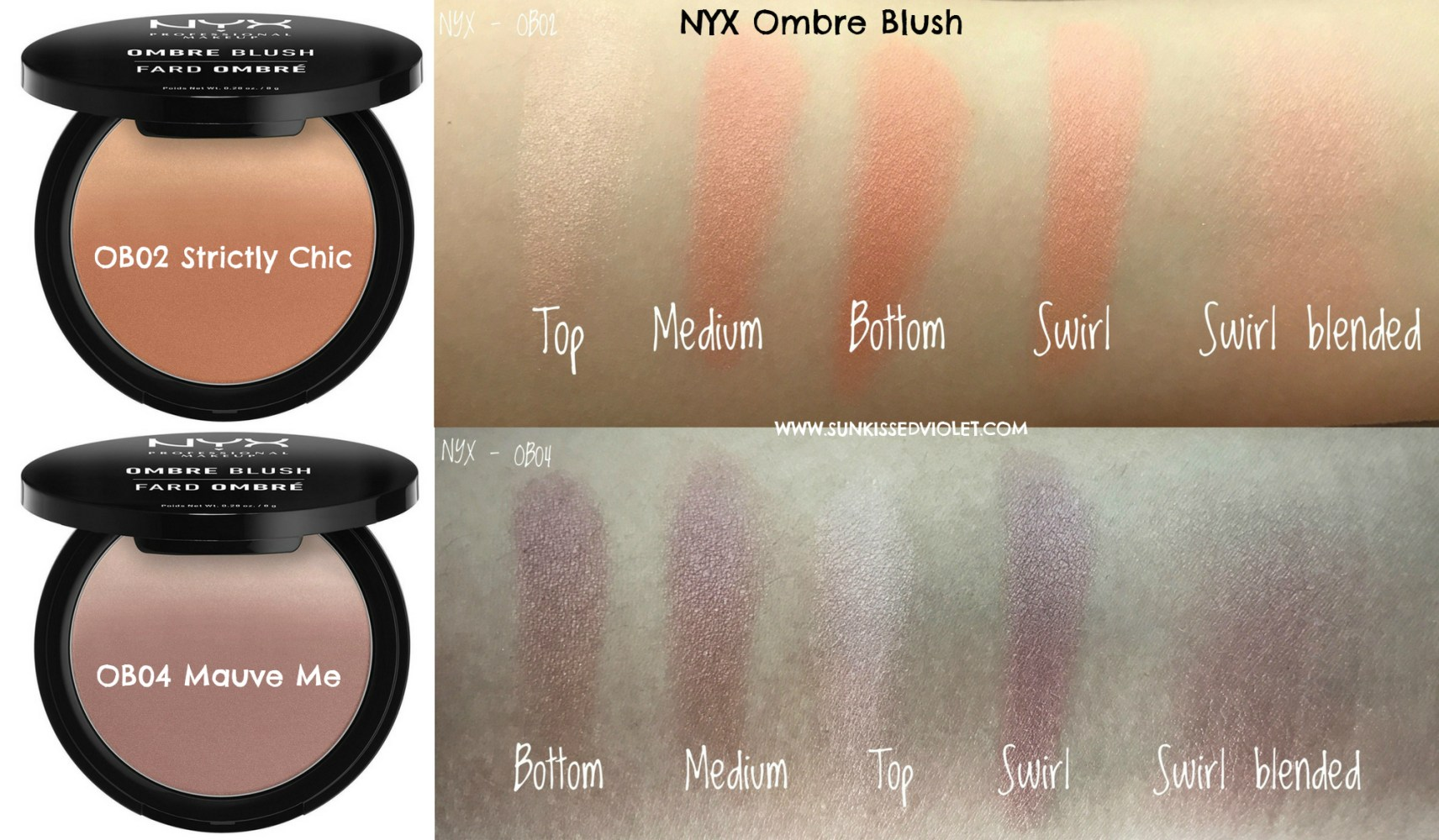 NYX Ombre Blush Strictly Chic Mauve Me Review Swatches