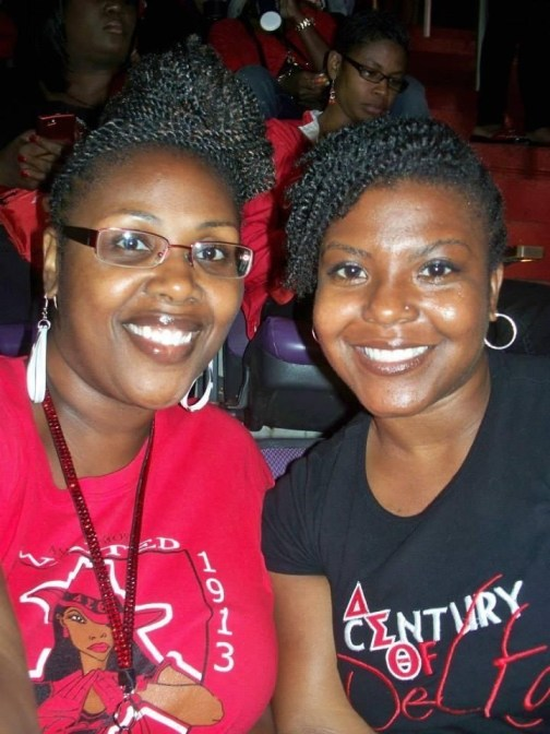 my soror bestie for life. our sisterhood is official on so many levels.