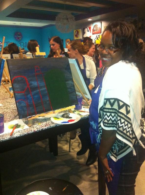 celeste shows off her work in progress