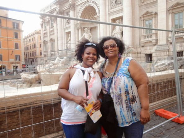 my mom had to see the trevi fountain but it was closed - sadface!