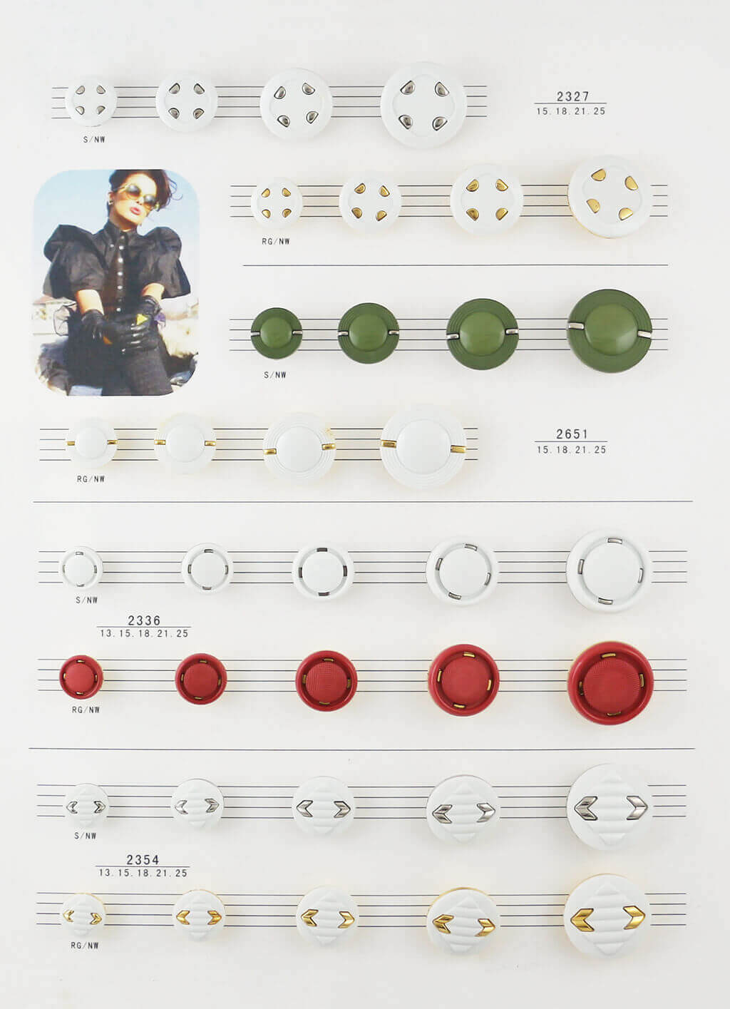 clothing buttons catalogue, combined buttons catalogue from SUNMEI