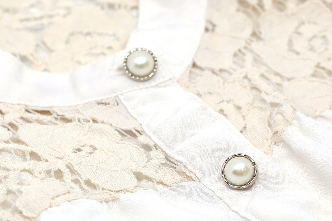 Fancy Shirt Button Collection in Pearl and Silver Rhinestone