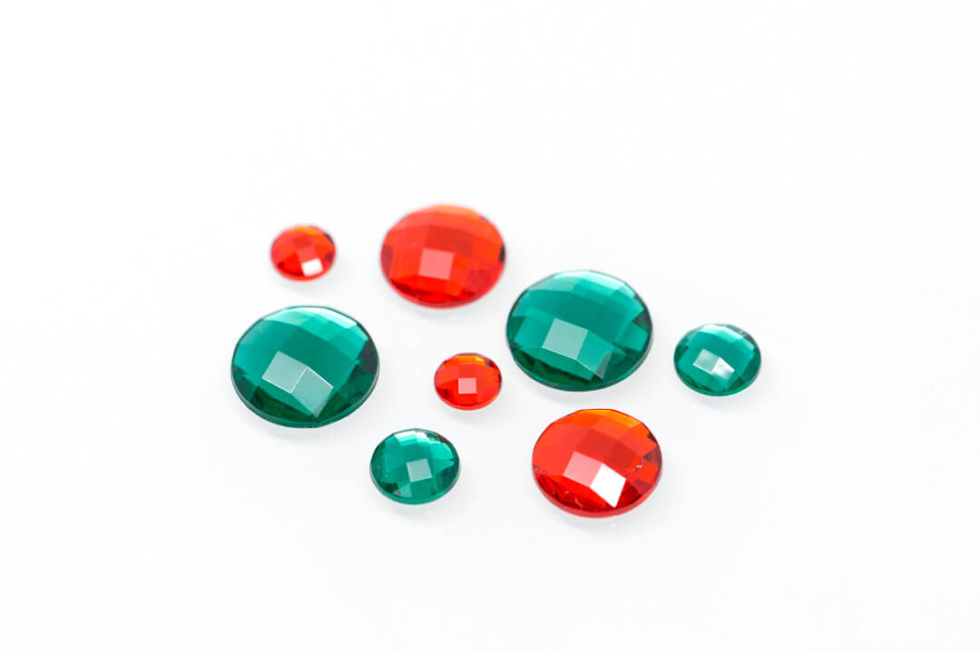 green and red rhinestones for jewelry-2