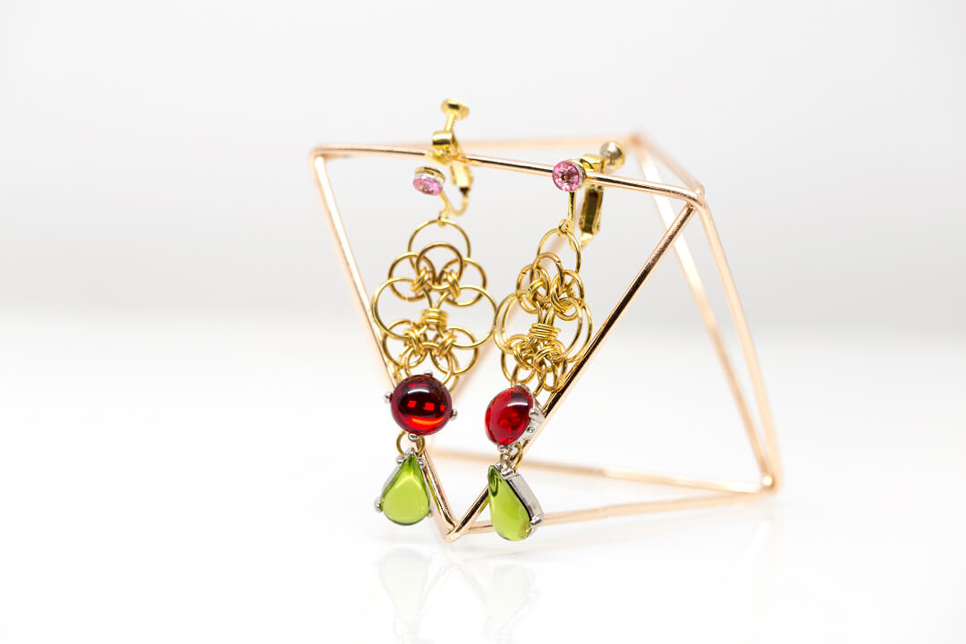 green and red rhinestones jewelry-3