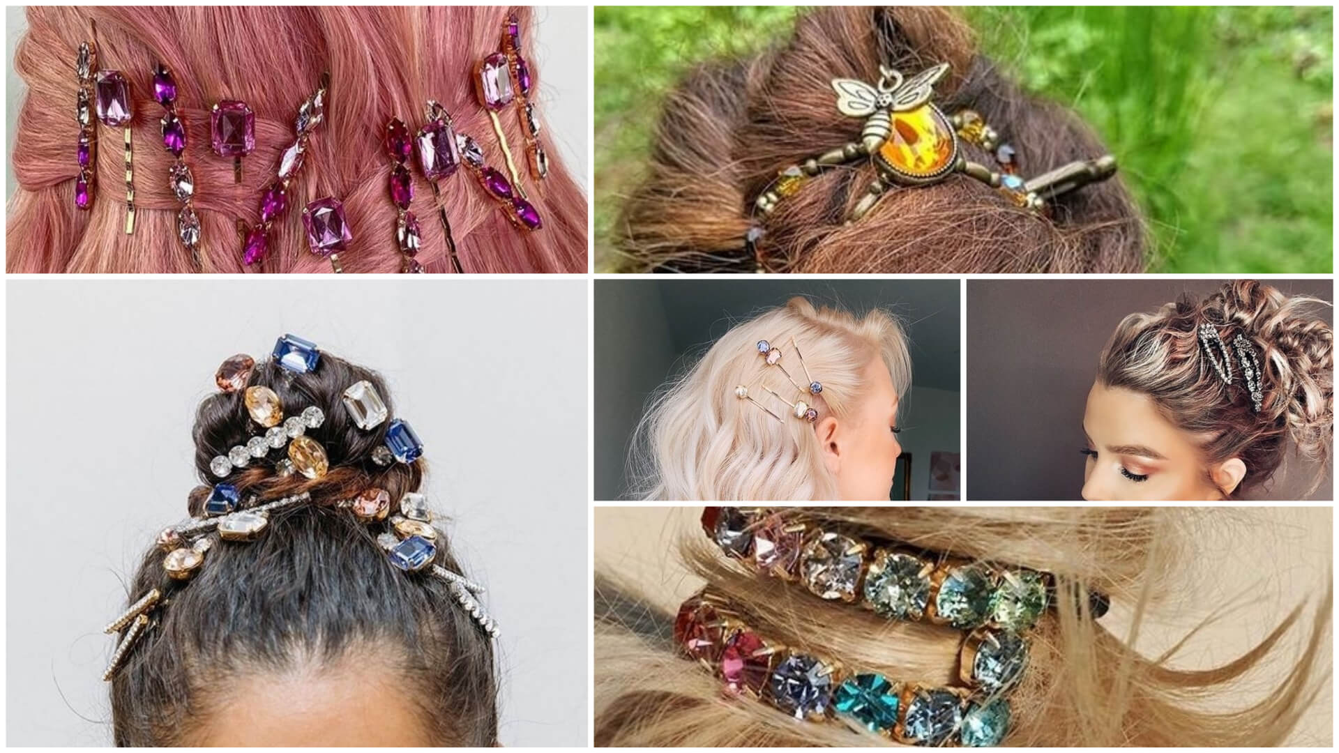 6 Beautiful Rhinestone Hair Pin Ideas