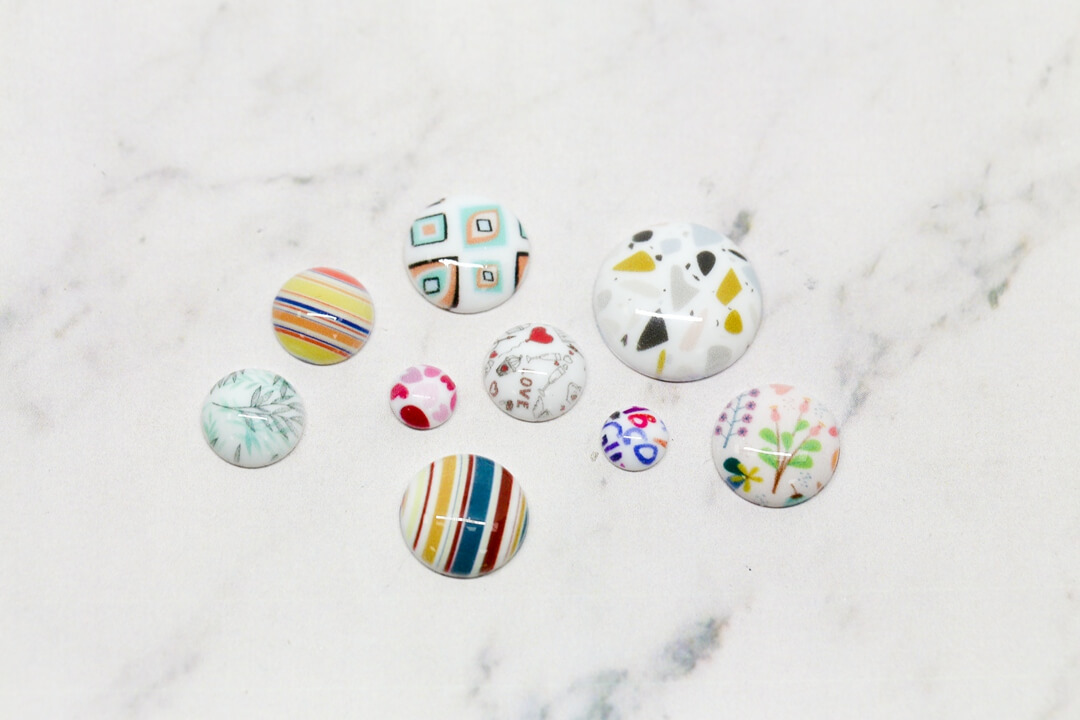 print fashion buttons-663