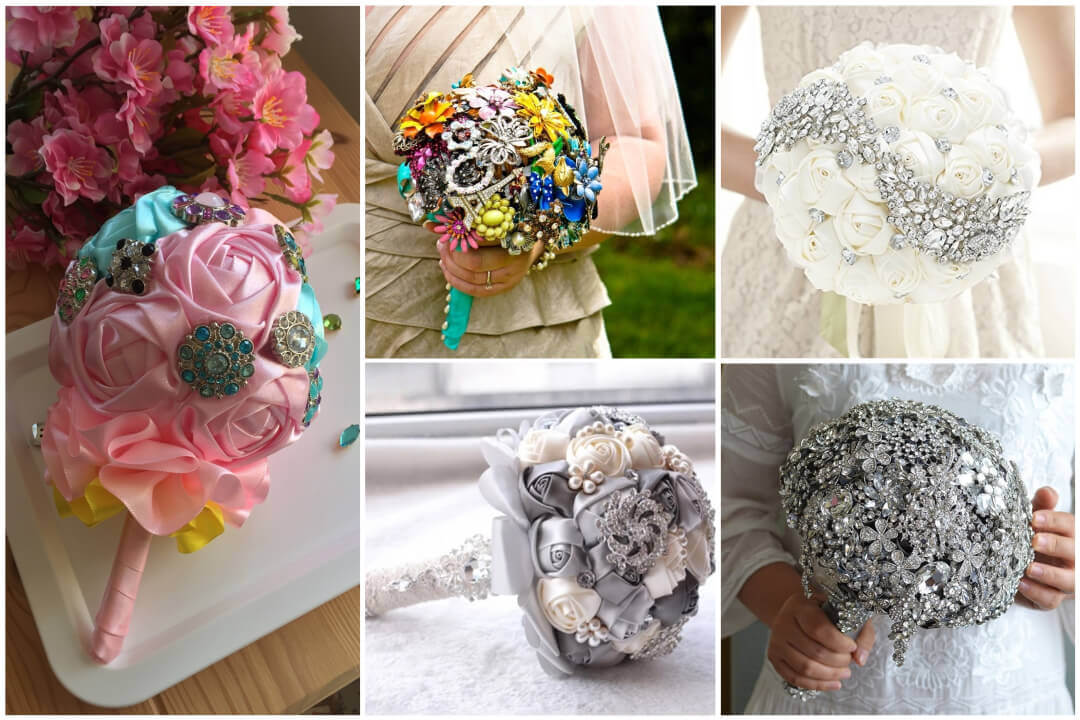 5 Unique Rhinestone Bouquet Ideas