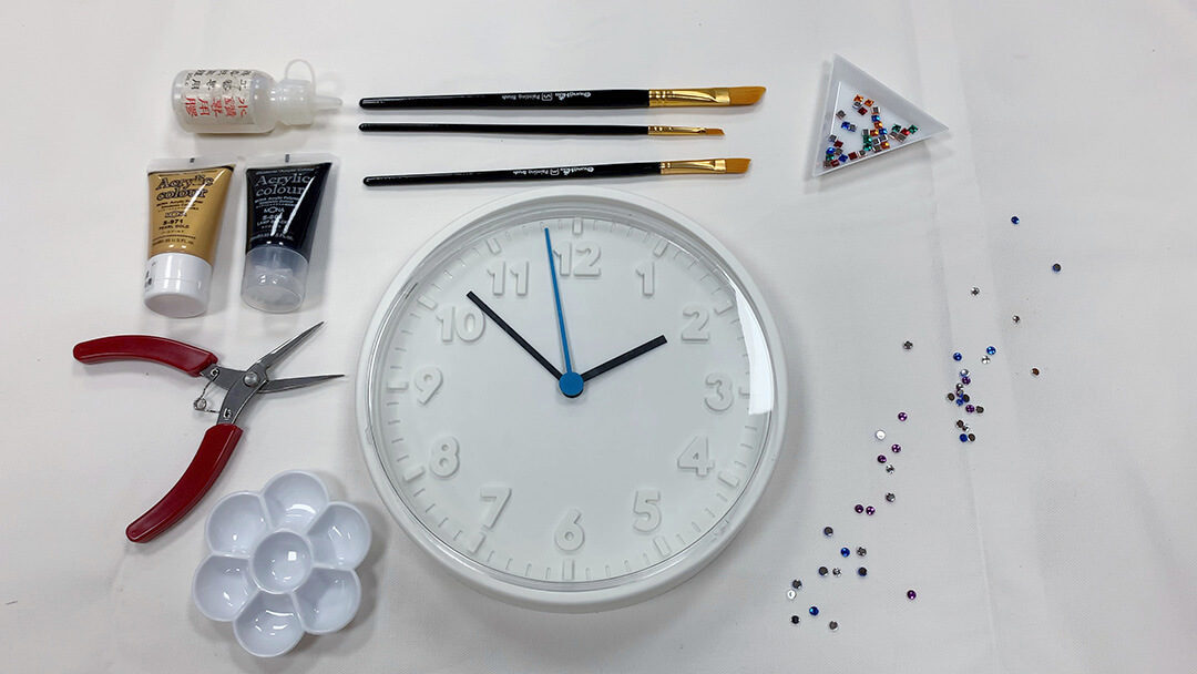 How to Make a Glitzy Rhinestone Clock