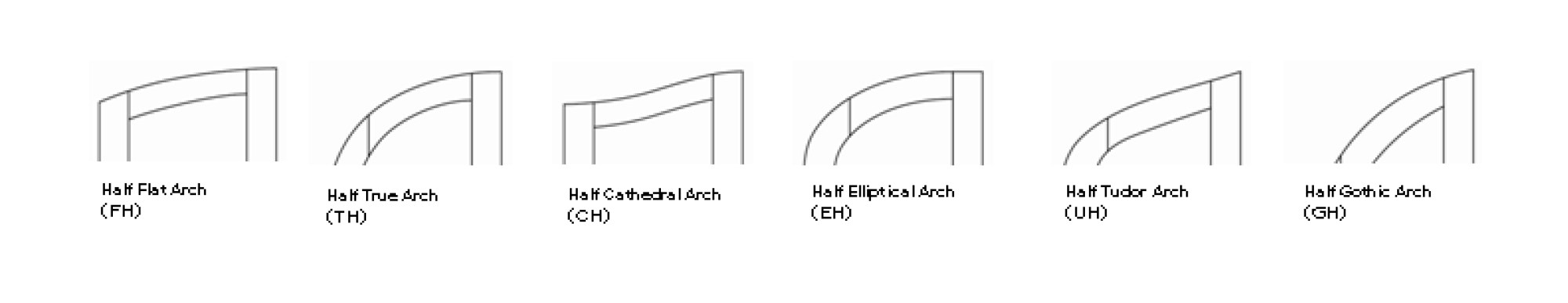 hight resolution of arched top designs half