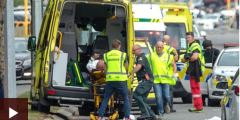 حادث نيوزيلندا الارهابي .. 40 قتيلا و20 مصابا إثر إطلاق نار على مسجدين في نيوزيلندا
