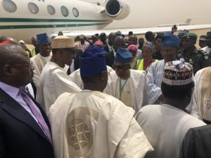 Image result for Buhari arrives Yola, to declare Adamawa Anti-Corruption Summit Open