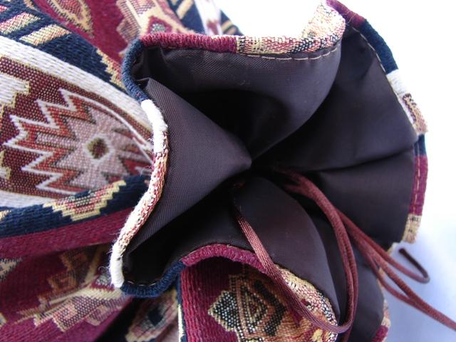 Round Bolster Pillow Cover Ethnic, Sofa Carpet Cushion, Armenian Mutaka