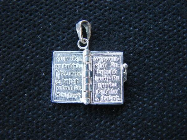 Miniature Prayer Book 925 Silver, Prayer in Armenian Հայր Մեր