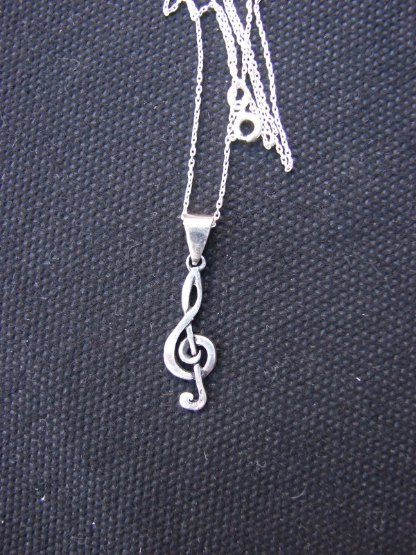 Necklace Treble Clef Sterling Silver 925