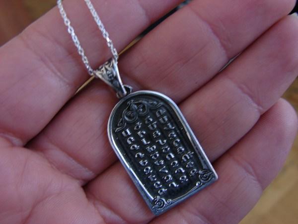 Pendant Armenian Alphabet 925 Sterling Silver, Armenian Letters