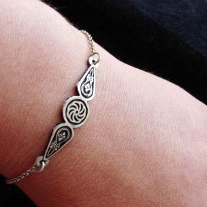 Bracelet Wheel of Eternity Charm Sterling Silver 925