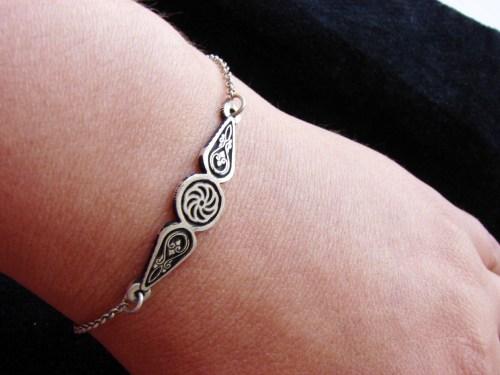 Bracelet Wheel of Eternity Charm Sterling Silver 925