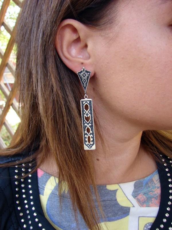 Long Earrings Sterling Silver 925, Party Earrings