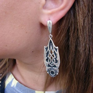Dangle Long Earrings Sterling Silver 925