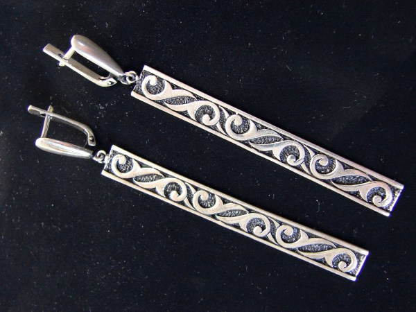 Long Earrings Sterling Silver 925, Ethnic Style, Party Earrings