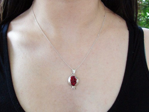 Pomegranate Necklace Silver