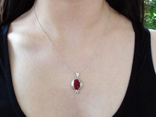 Pomegranate Necklace Silver