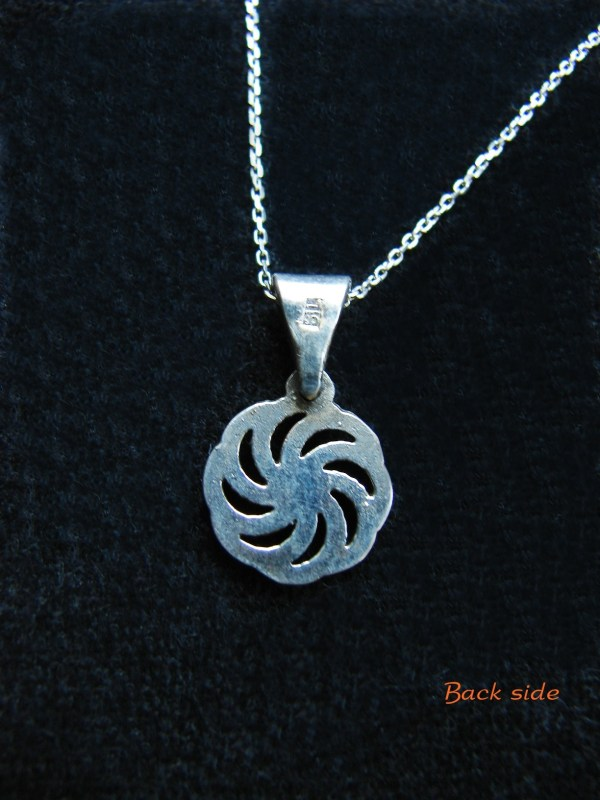 Pendant Wheel of Eternity Sterling Silver 925, Armenian Symbol