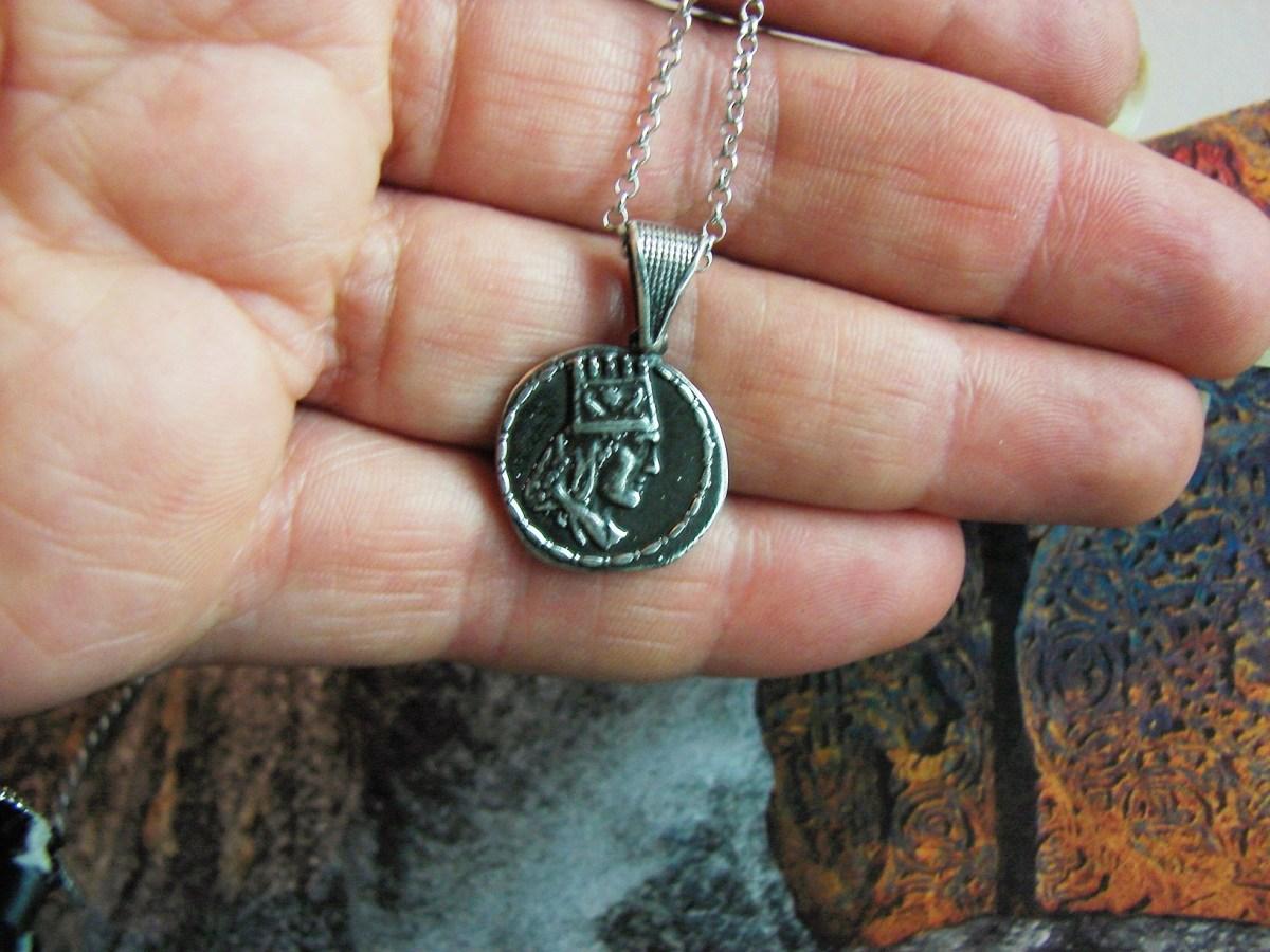 Pendant Tigran the Great King of Armenia, Sterling Silver 925