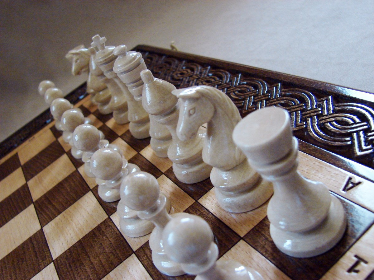 Wooden Chess Board Hand Carved