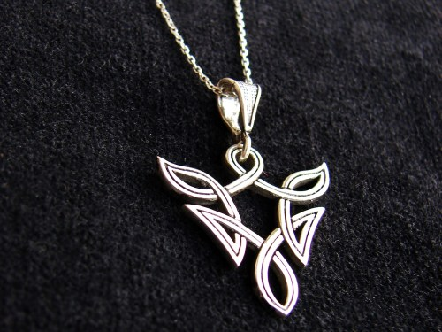 Elvish Pendant Fantasy Celtic Design Sterling Silver 925