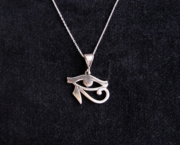 Pendant Eye of Horus Ra Egyptian Amulet Sterling Silver 925