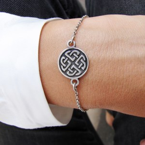Celtic Shield Knot Bracelet Sterling Silver 925