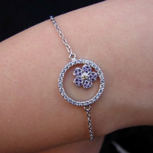 Forget me Not Flower Bracelet Sterling Silver 925, Anmoruk