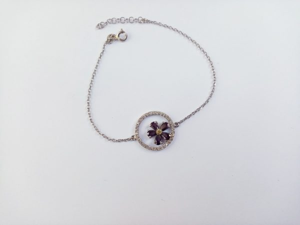 Forget me Not Flower Bracelet Silver 925, Anmoruk