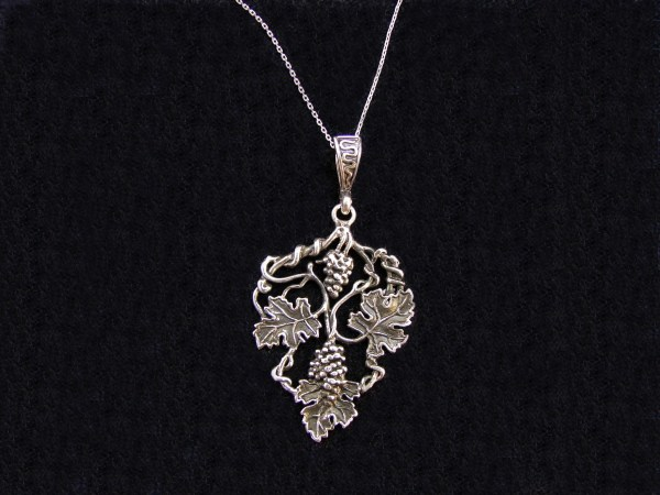 Silver Necklace Bunch of Grapes