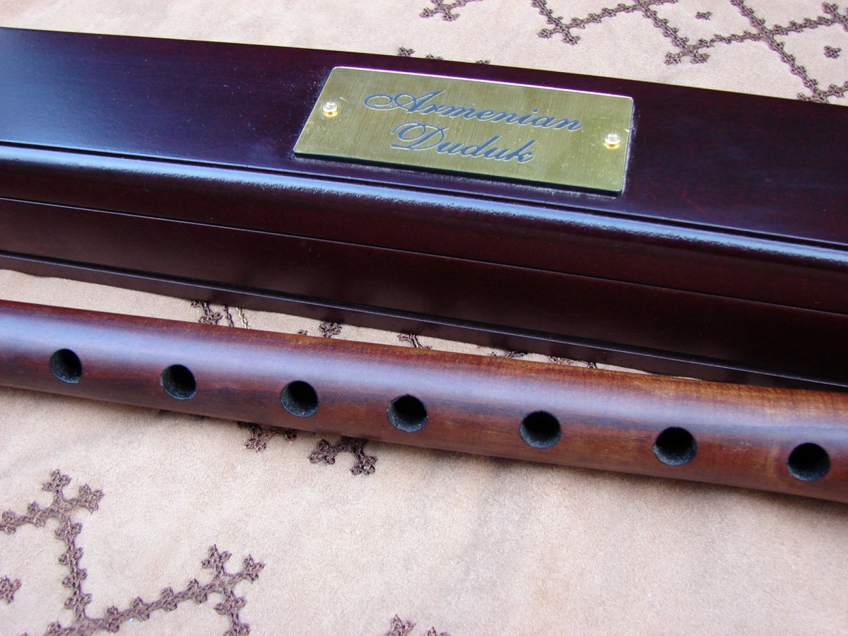 Duduk in Wooden Gift Box in key A