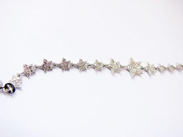 Stars Bracelet Sterling Silver 925 with Sparkling Zircons